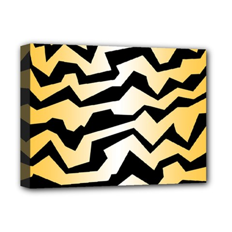 Polynoise Tiger Deluxe Canvas 16  X 12