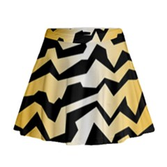 Polynoise Tiger Mini Flare Skirt