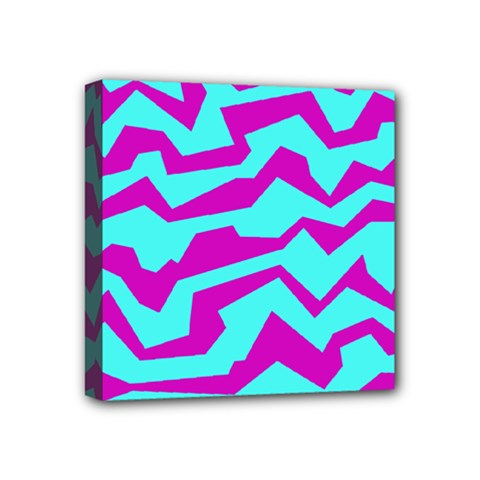 Polynoise Shock New Wave Mini Canvas 4  X 4