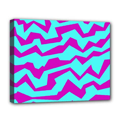 Polynoise Shock New Wave Deluxe Canvas 20  X 16