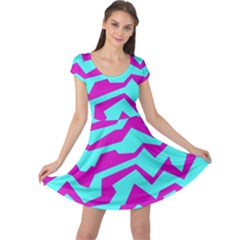 Polynoise Shock New Wave Cap Sleeve Dress