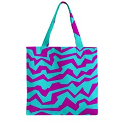 Polynoise Shock New Wave Zipper Grocery Tote Bag