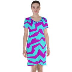 Polynoise Shock New Wave Short Sleeve Nightdress
