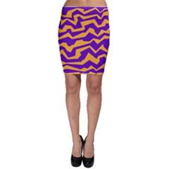 Polynoise Pumpkin Bodycon Skirt