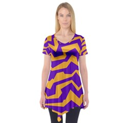 Polynoise Pumpkin Short Sleeve Tunic