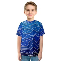 Polynoise Deep Layer Kids  Sport Mesh Tee