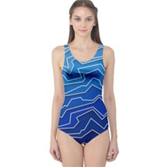 Polynoise Deep Layer One Piece Swimsuit