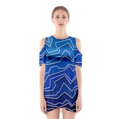 Polynoise Deep Layer Shoulder Cutout One Piece