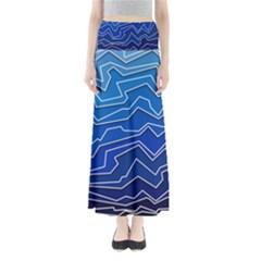 Polynoise Deep Layer Full Length Maxi Skirt