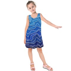 Polynoise Deep Layer Kids  Sleeveless Dress