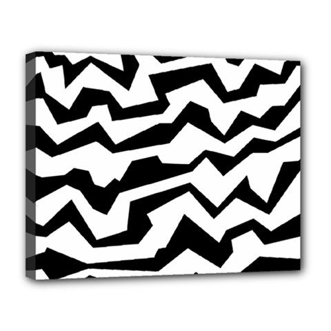 Polynoise Bw Canvas 14  X 11
