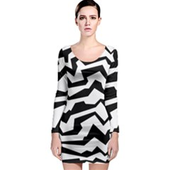 Polynoise Bw Long Sleeve Bodycon Dress