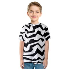Polynoise Bw Kids  Sport Mesh Tee