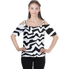 Polynoise Bw Cutout Shoulder Tee