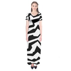 Polynoise Bw Short Sleeve Maxi Dress