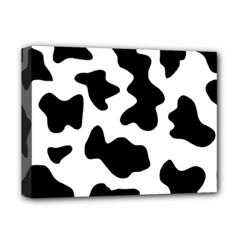 Animal Print Black And White Black Deluxe Canvas 16  X 12