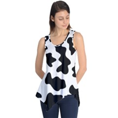 Animal Print Black And White Black Sleeveless Tunic