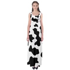 Animal Print Black And White Black Empire Waist Maxi Dress
