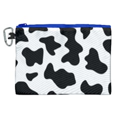 Animal Print Black And White Black Canvas Cosmetic Bag (xl)