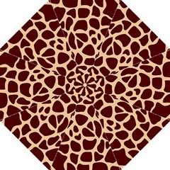 Animal Print Girraf Patterns Hook Handle Umbrellas (large)