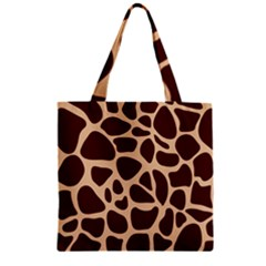 Animal Print Girraf Patterns Zipper Grocery Tote Bag