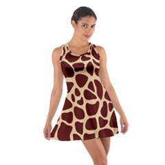 Animal Print Girraf Patterns Cotton Racerback Dress