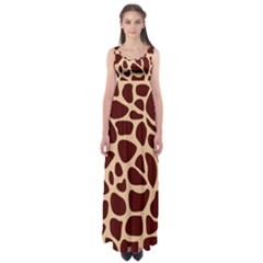 Animal Print Girraf Patterns Empire Waist Maxi Dress