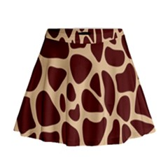 Animal Print Girraf Patterns Mini Flare Skirt