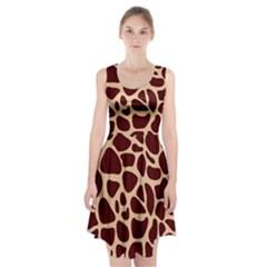 Animal Print Girraf Patterns Racerback Midi Dress