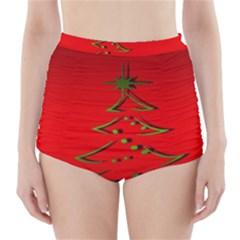 Christmas High Waisted Bikini Bottoms