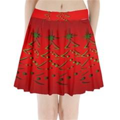 Christmas Pleated Mini Skirt