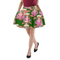 Seamless Tile Repeat Pattern A Line Pocket Skirt