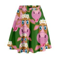 Seamless Tile Repeat Pattern High Waist Skirt