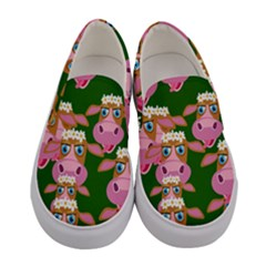 Seamless Tile Repeat Pattern Women s Canvas Slip Ons