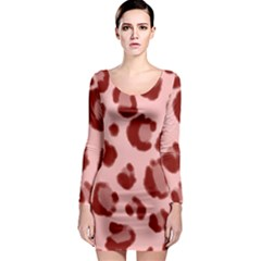 Seamless Tile Background Abstract Long Sleeve Bodycon Dress