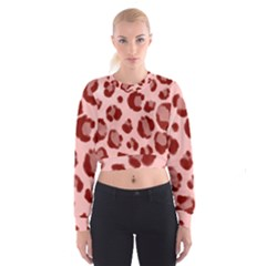 Seamless Tile Background Abstract Cropped Sweatshirt