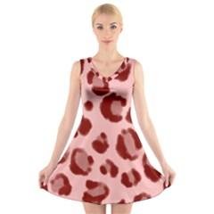Seamless Tile Background Abstract V Neck Sleeveless Skater Dress