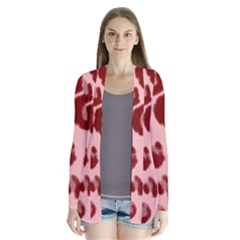 Seamless Tile Background Abstract Drape Collar Cardigan