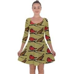 Animal Nature Wild Wildlife Quarter Sleeve Skater Dress