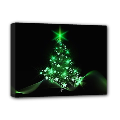 Christmas Tree Background Deluxe Canvas 16  X 12