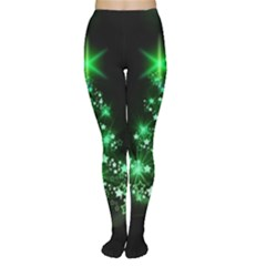Christmas Tree Background Women s Tights