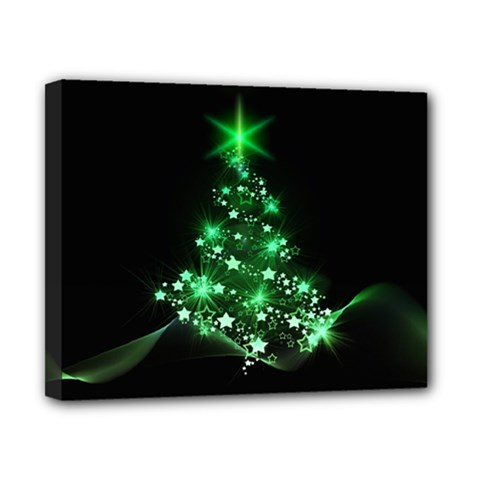 Christmas Tree Background Canvas 10  X 8