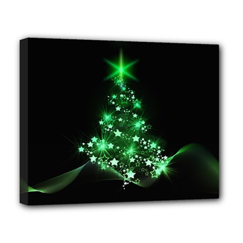 Christmas Tree Background Deluxe Canvas 20  X 16