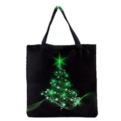Christmas Tree Background Grocery Tote Bag