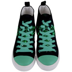 Christmas Tree Background Women s Mid Top Canvas Sneakers