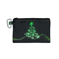Christmas Tree Background Canvas Cosmetic Bag (small)