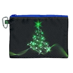 Christmas Tree Background Canvas Cosmetic Bag (xl)