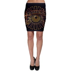 Eye Technology Bodycon Skirt