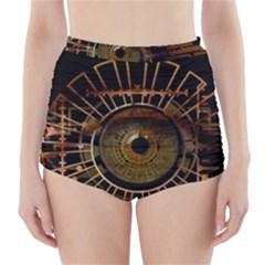 Eye Technology High Waisted Bikini Bottoms