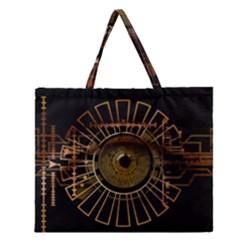Eye Technology Zipper Large Tote Bag